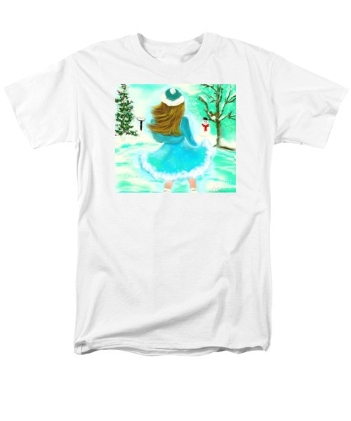 Men's T-Shirt  (Regular Fit) featuring the drawing Afternoon Skating by Lori  Lovetere