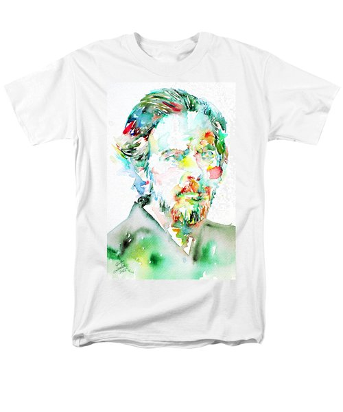 Alan Watts Watercolor Portrait Men's T-Shirt  (Regular Fit) by Fabrizio Cassetta