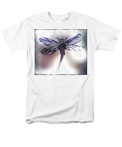 Alcohol Inks Purple Dragonfly Men's T-Shirt  (Regular Fit)