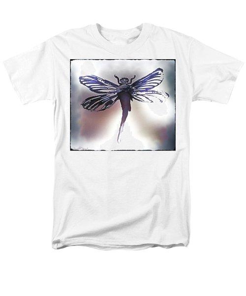 Alcohol Inks Purple Dragonfly Men's T-Shirt  (Regular Fit) by Danielle  Parent