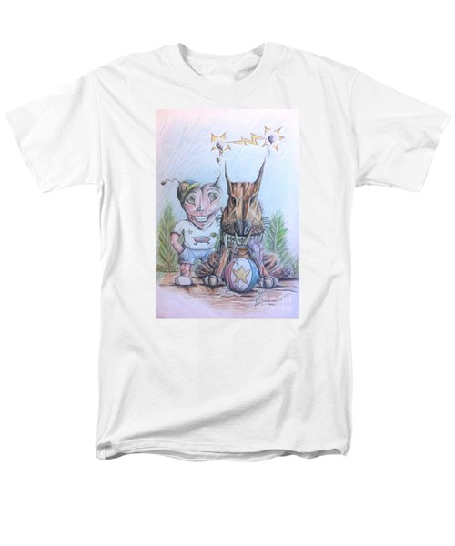 Alien Boy And His Best Friend Men's T-Shirt  (Regular Fit)