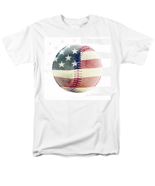 American Baseball Men's T-Shirt  (Regular Fit) by Terry DeLuco