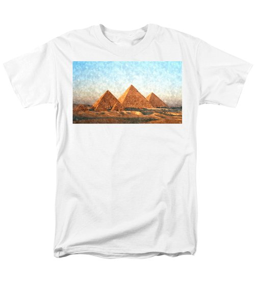 Ancient Egypt The Pyramids At Giza Men's T-Shirt  (Regular Fit) by Gianfranco Weiss