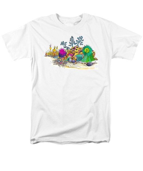 Men's T-Shirt  (Regular Fit) featuring the photograph Anemone Garden by Adria Trail