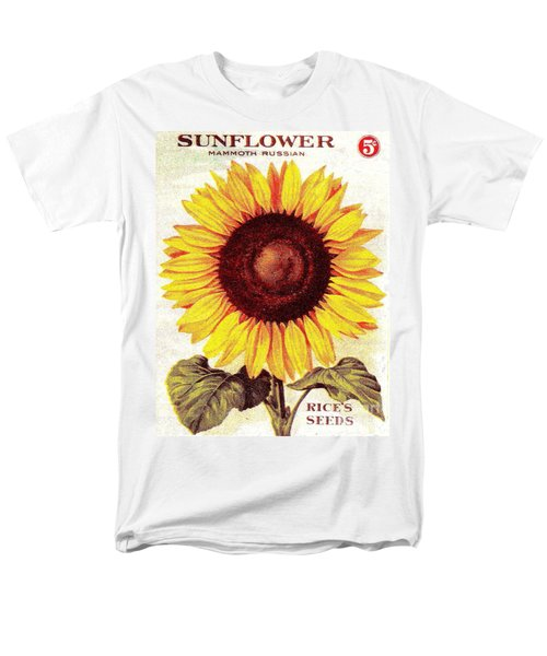 Antique Sunflower Seeds Pack Men's T-Shirt  (Regular Fit) by Peter Gumaer Ogden