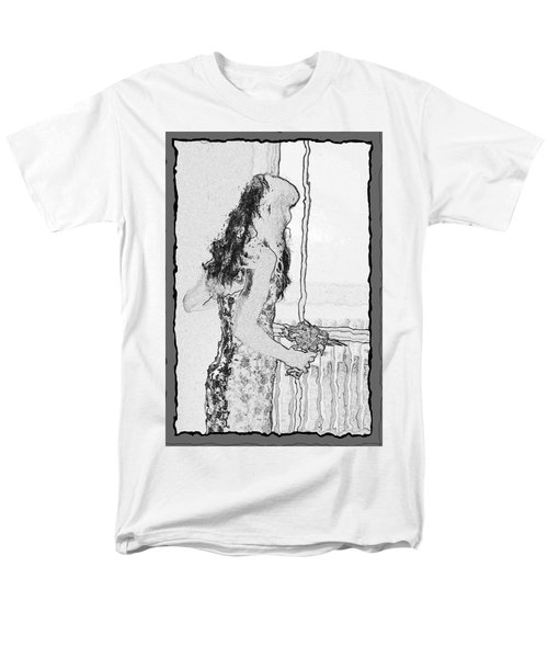 Anxiously Waiting Men's T-Shirt  (Regular Fit) by Leticia Latocki