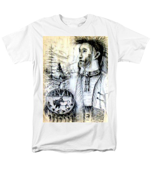 Men's T-Shirt  (Regular Fit) featuring the painting Arapaho Cheyenne by Bernadette Krupa