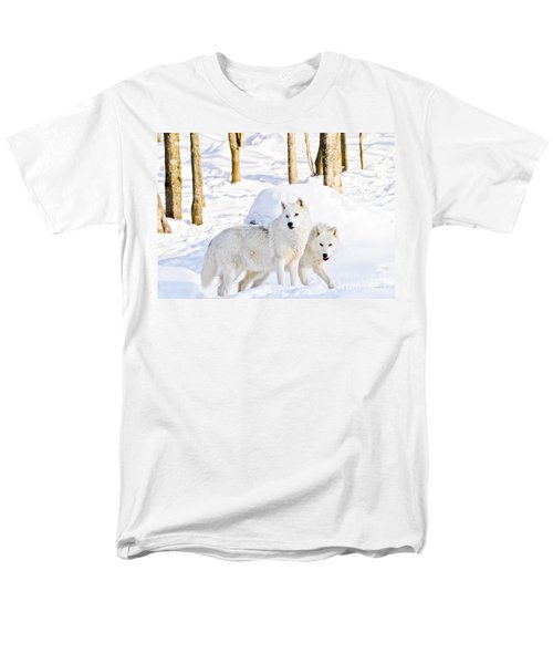 Arctic Wolves Men's T-Shirt  (Regular Fit) by Cheryl Baxter