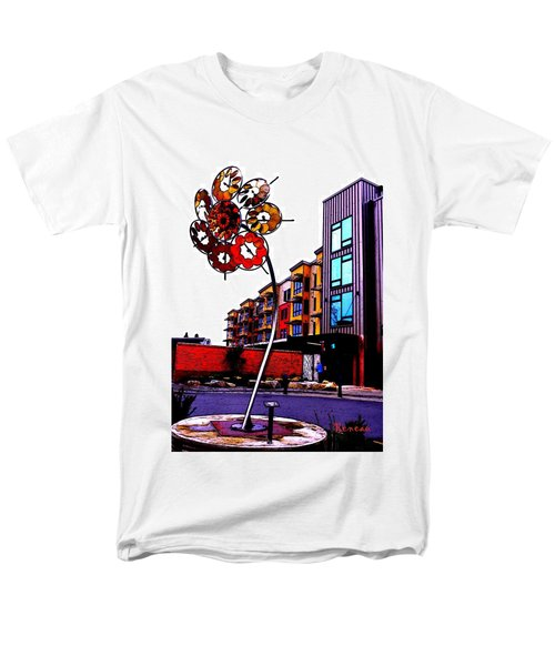 Men's T-Shirt  (Regular Fit) featuring the photograph Art On The Ave by Sadie Reneau