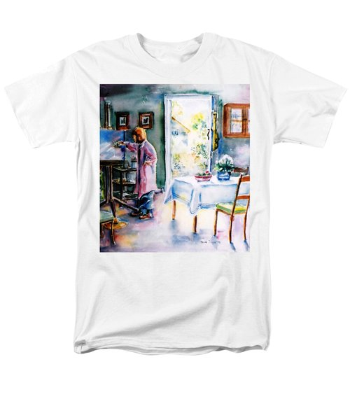 Artist At Work In Summer  Men's T-Shirt  (Regular Fit) by Trudi Doyle