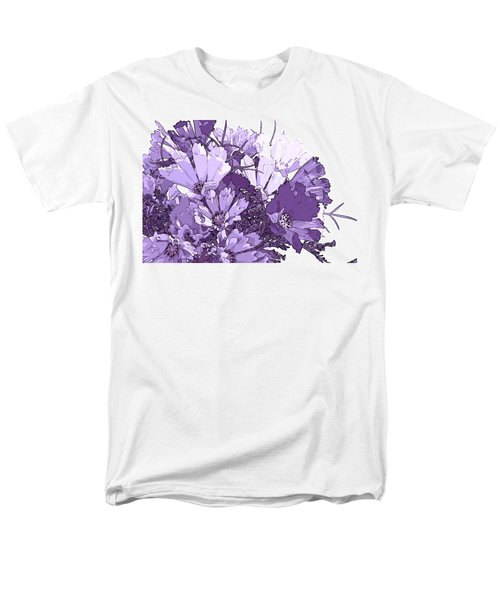 Men's T-Shirt  (Regular Fit) featuring the photograph Artsy Purple Cosmos by Sandra Foster