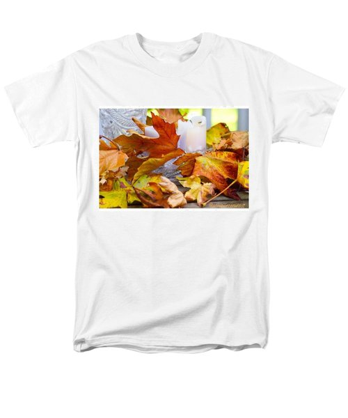 Maple Leaves Candles And Crystal Men's T-Shirt  (Regular Fit) by Anna Porter