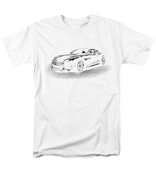 Men's T-Shirt  (Regular Fit) featuring the digital art Aston Martin by Rogerio Mariani