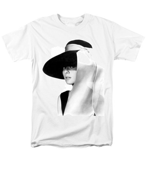 Audrey Hepburn Men's T-Shirt  (Regular Fit) by Daniel Hagerman