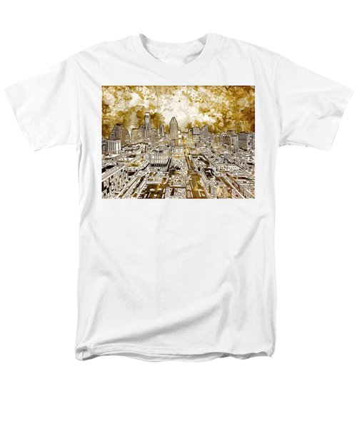 Austin Texas Abstract Panorama 6 Men's T-Shirt  (Regular Fit) by Bekim Art