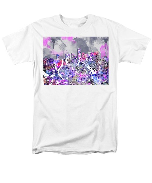 Austin Texas Watercolor Panorama2 Men's T-Shirt  (Regular Fit) by Bekim Art