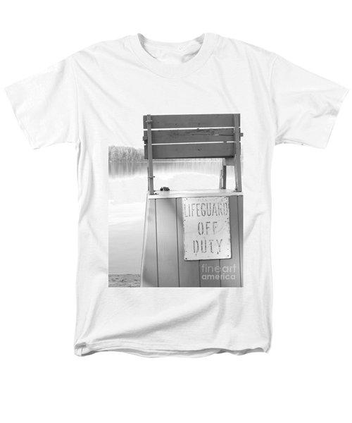 Autumn At White Lake Bw Men's T-Shirt  (Regular Fit) by Barbara Bardzik
