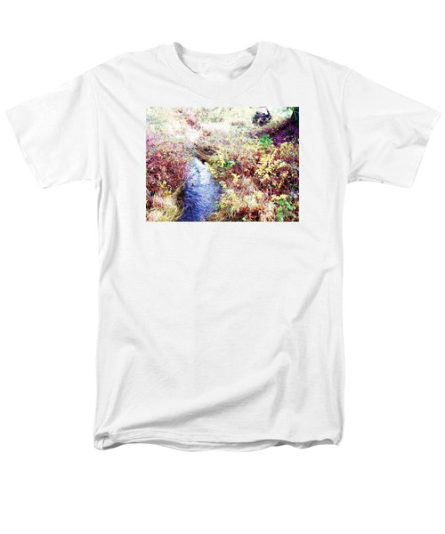 Men's T-Shirt  (Regular Fit) featuring the photograph Autumn Creek by Vanessa Palomino