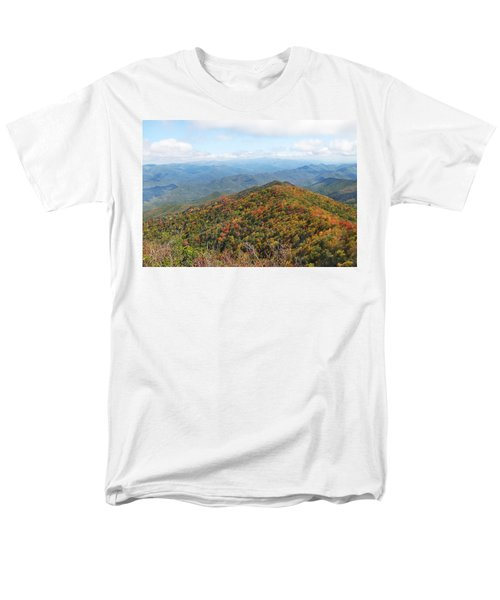 Autumn Great Smoky Mountains Men's T-Shirt  (Regular Fit) by Melinda Fawver