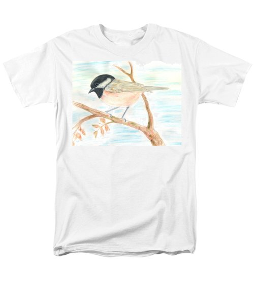 Men's T-Shirt  (Regular Fit) featuring the painting Autumn Visitor by Stephanie Grant