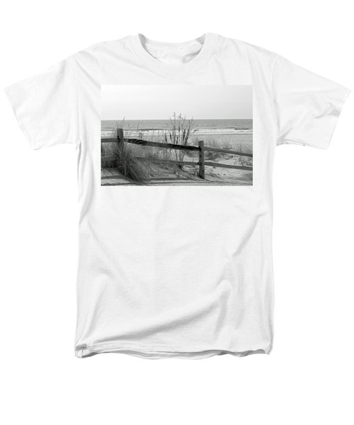 Men's T-Shirt  (Regular Fit) featuring the photograph B And W Beach by Greg Graham