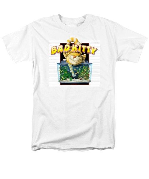 Men's T-Shirt  (Regular Fit) featuring the digital art Bad Kitty by Scott Ross