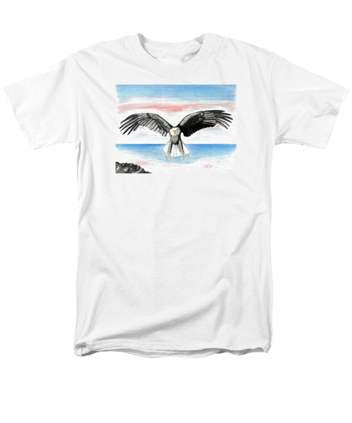 Men's T-Shirt  (Regular Fit) featuring the drawing Bald Eagle by David Jackson