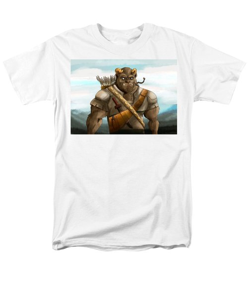 Men's T-Shirt  (Regular Fit) featuring the painting Baragh The Hoargg Warrior by Reynold Jay