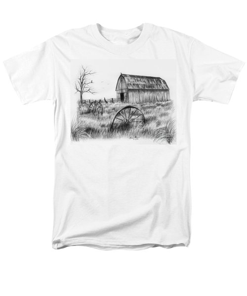 Barn With Crows Men's T-Shirt  (Regular Fit) by Lena Auxier