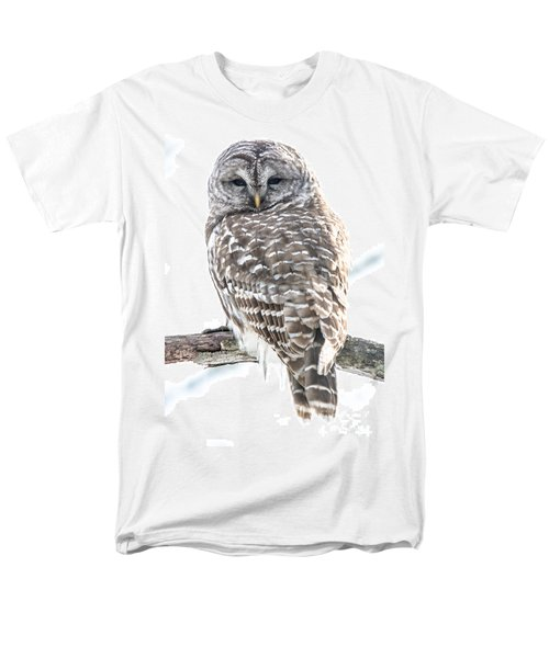 Barred Owl2 Men's T-Shirt  (Regular Fit) by Cheryl Baxter