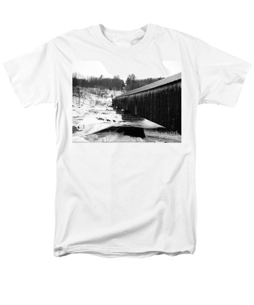 Bath Covered Bridge Men's T-Shirt  (Regular Fit) by Barbara Bardzik