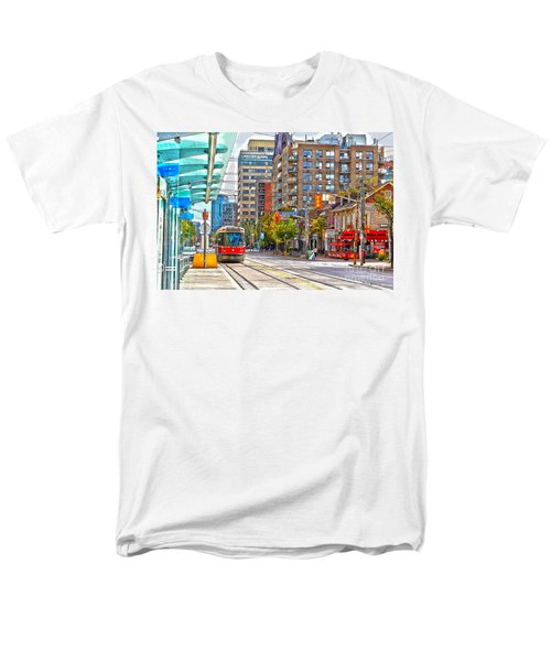 Bathurst Street Car Coming North To Queen Street Men's T-Shirt  (Regular Fit) by Nina Silver