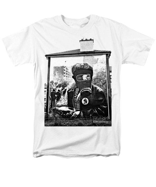 Battle Of The Bogside Mural Men's T-Shirt  (Regular Fit) by Nina Ficur Feenan