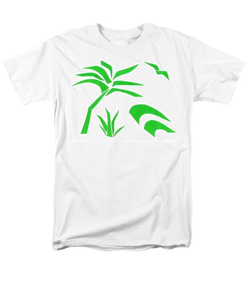 Men's T-Shirt  (Regular Fit) featuring the mixed media Beach by Delin Colon