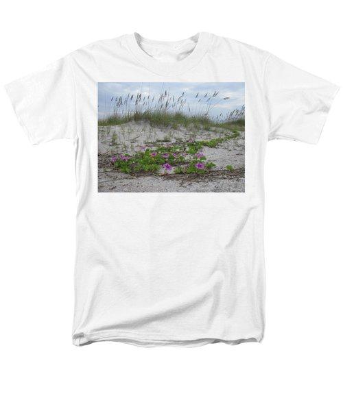 Beach Flowers Men's T-Shirt  (Regular Fit) by Ellen Meakin