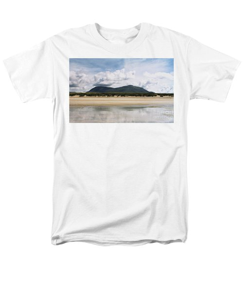 Beach Sky And Mountains Men's T-Shirt  (Regular Fit) by Rebecca Harman