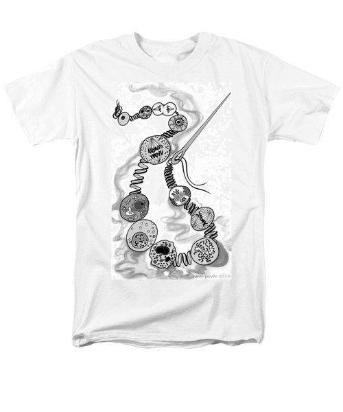 Men's T-Shirt  (Regular Fit) featuring the digital art Beads Of Life by Carol Jacobs