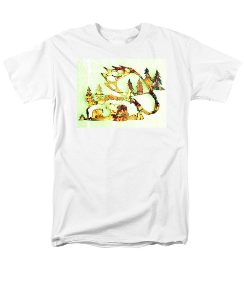 Bear Track 8 Men's T-Shirt  (Regular Fit) by Larry Campbell
