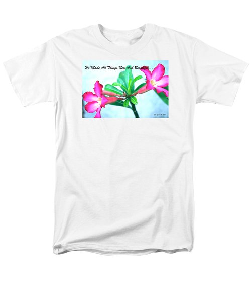 Men's T-Shirt  (Regular Fit) featuring the photograph Beautiful Flower by Lorna Maza