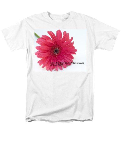 Beauty And Simplicity Men's T-Shirt  (Regular Fit)