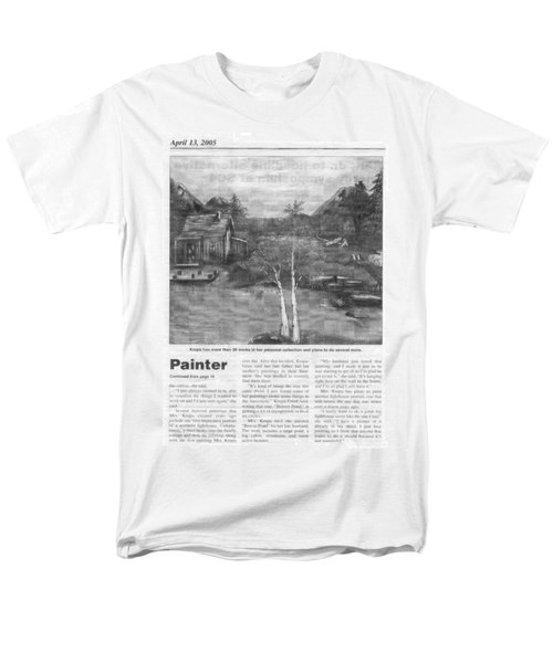 Beaver Pond - Article - Mary Krupa Men's T-Shirt  (Regular Fit) by Bernadette Krupa