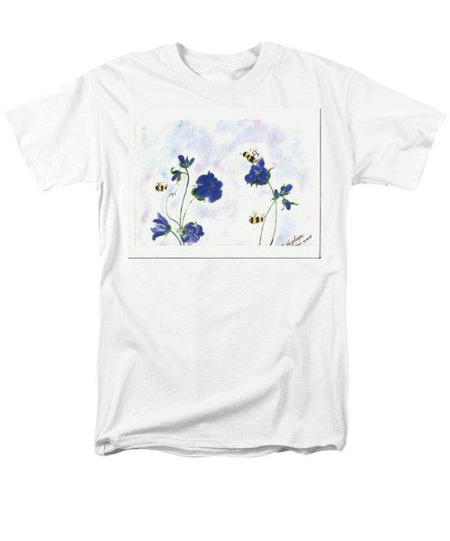 Bees At Lunch Time Men's T-Shirt  (Regular Fit) by Francine Heykoop