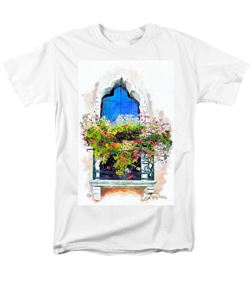 Men's T-Shirt  (Regular Fit) featuring the painting Bei Fiori by Greg Collins