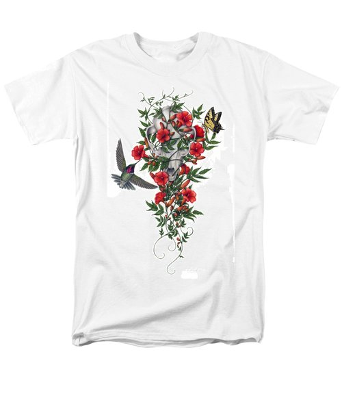Men's T-Shirt  (Regular Fit) featuring the painting Beneath Summer's Promise by Pat Erickson