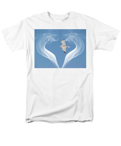 Bird In Flight Men's T-Shirt  (Regular Fit) by Athala Carole Bruckner