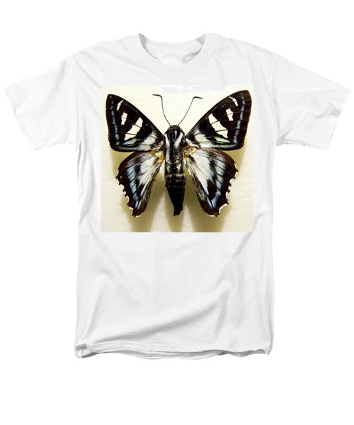Black And White Moth Men's T-Shirt  (Regular Fit) by Rosalie Scanlon