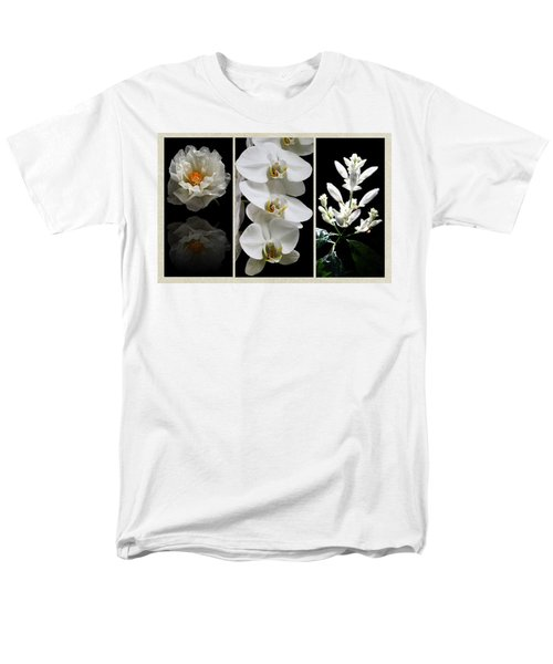 Black And White Triptych Men's T-Shirt  (Regular Fit) by Judy Vincent