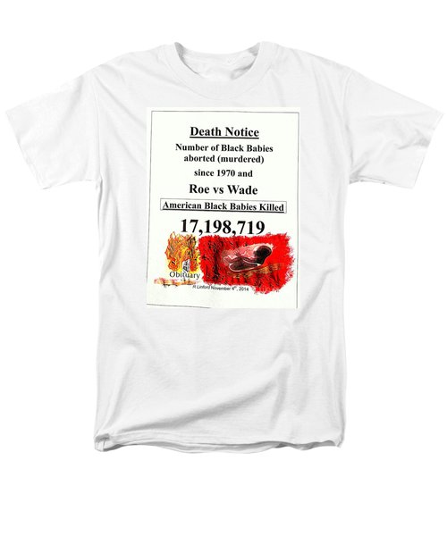 Black Babies Killed Aborted Murdered 1 Since 1970 And Roe Vs Wade Men's T-Shirt  (Regular Fit) by Richard W Linford