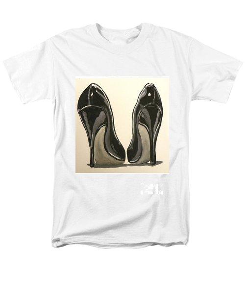 Men's T-Shirt  (Regular Fit) featuring the painting Black Pumps by Marisela Mungia