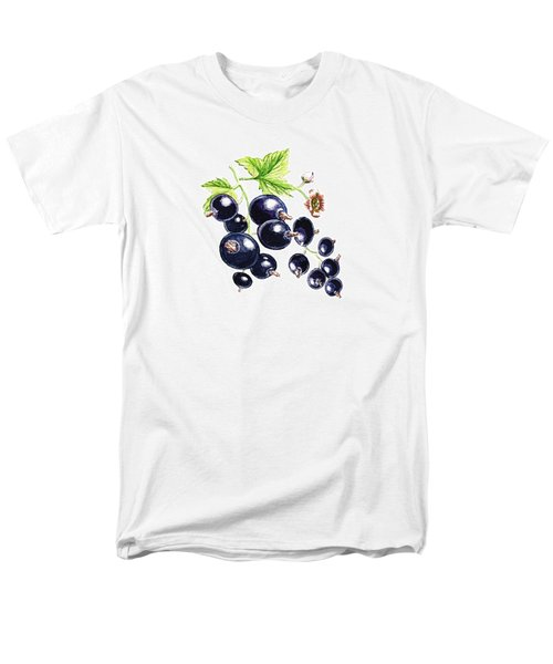 Men's T-Shirt  (Regular Fit) featuring the painting Blackcurrant Berries  by Irina Sztukowski